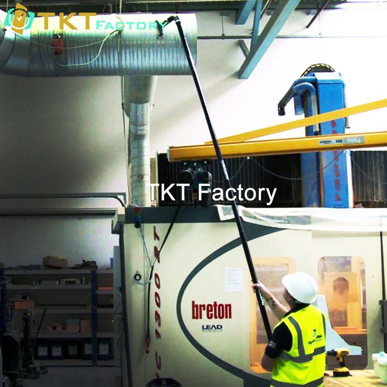 công ty vệ sinh nhà xưởng TKT Factory làm sạch đường ống nhà máy