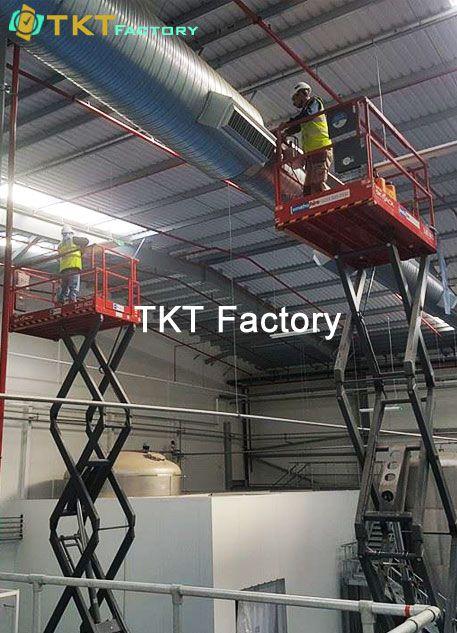 vệ sinh nhà máy TPHCM làm sạch trên cao TKT Factory