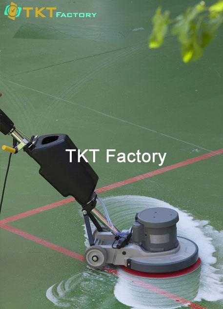 vệ sinh nhà xưởng tại Bình Dương chà rửa sàn nhà máy TKT Factory