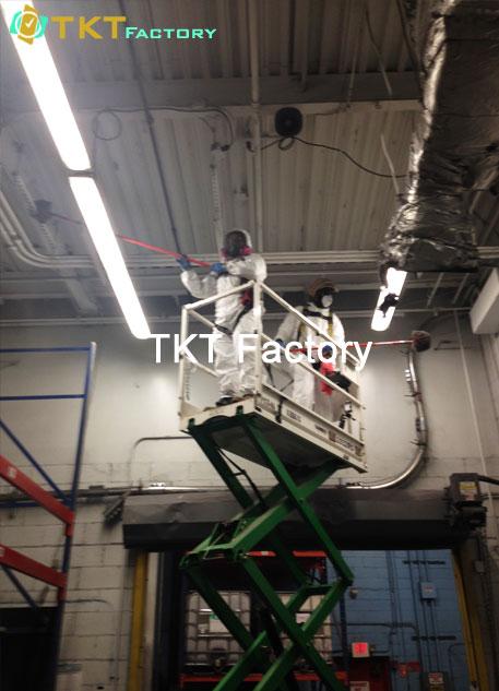 dịch vụ vệ sinh nhà xưởng ở Bình Dương làm sạch đường ống Cab điện TKT Factory