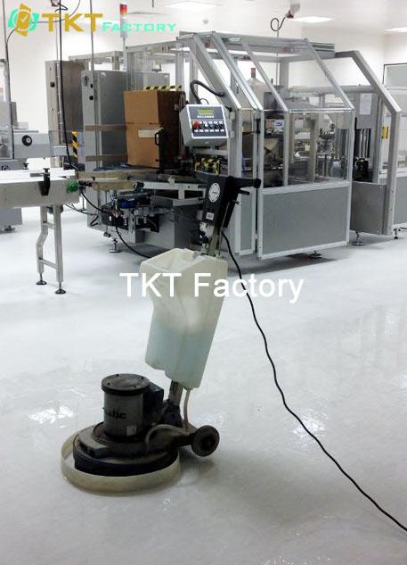 vệ sinh nhà xưởng tại Tỉnh Đồng Nai phủ bóng sàn Vinyl TKT Factory