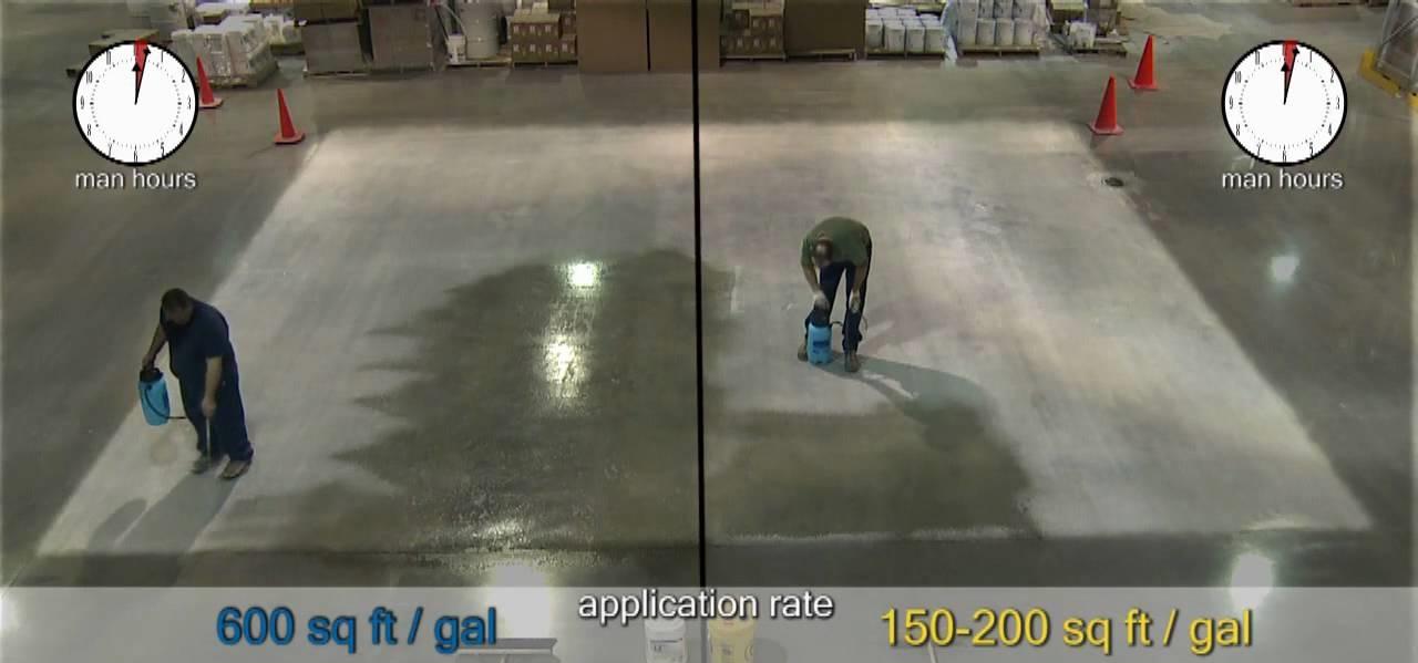 cách phủ chất tăng cứng bề mặt bê tông
