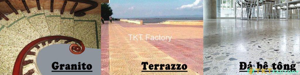 So sánh gạch Granito, Terrazzo và Đá Bê Tông Nghệ Thuật