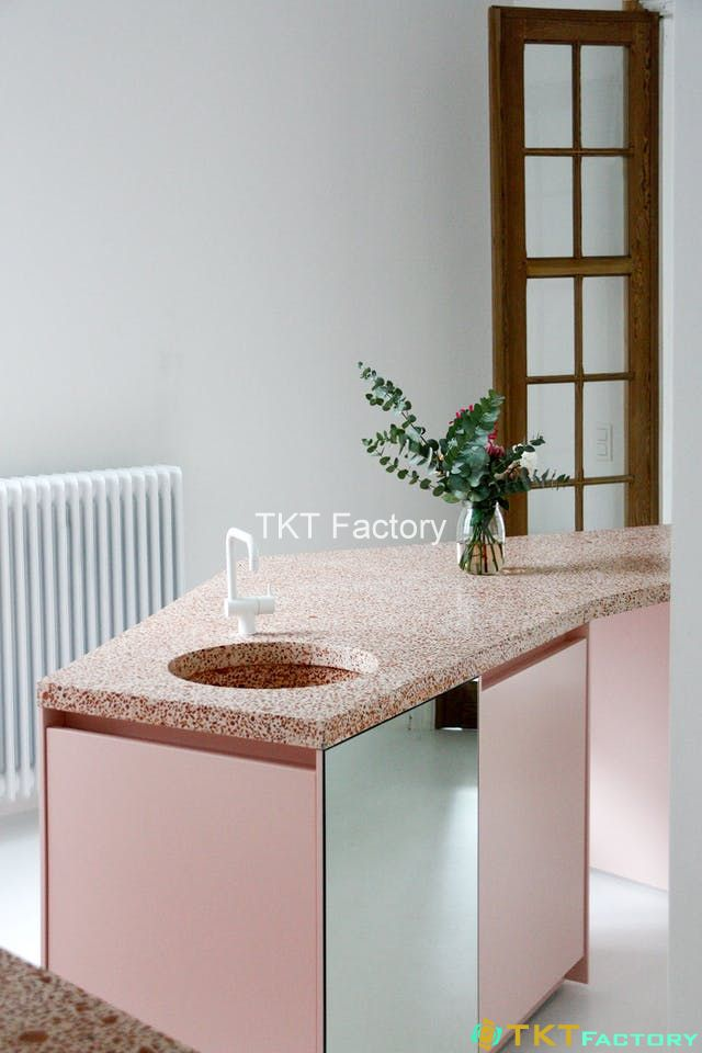đá terrazzo ốp bàn ăn
