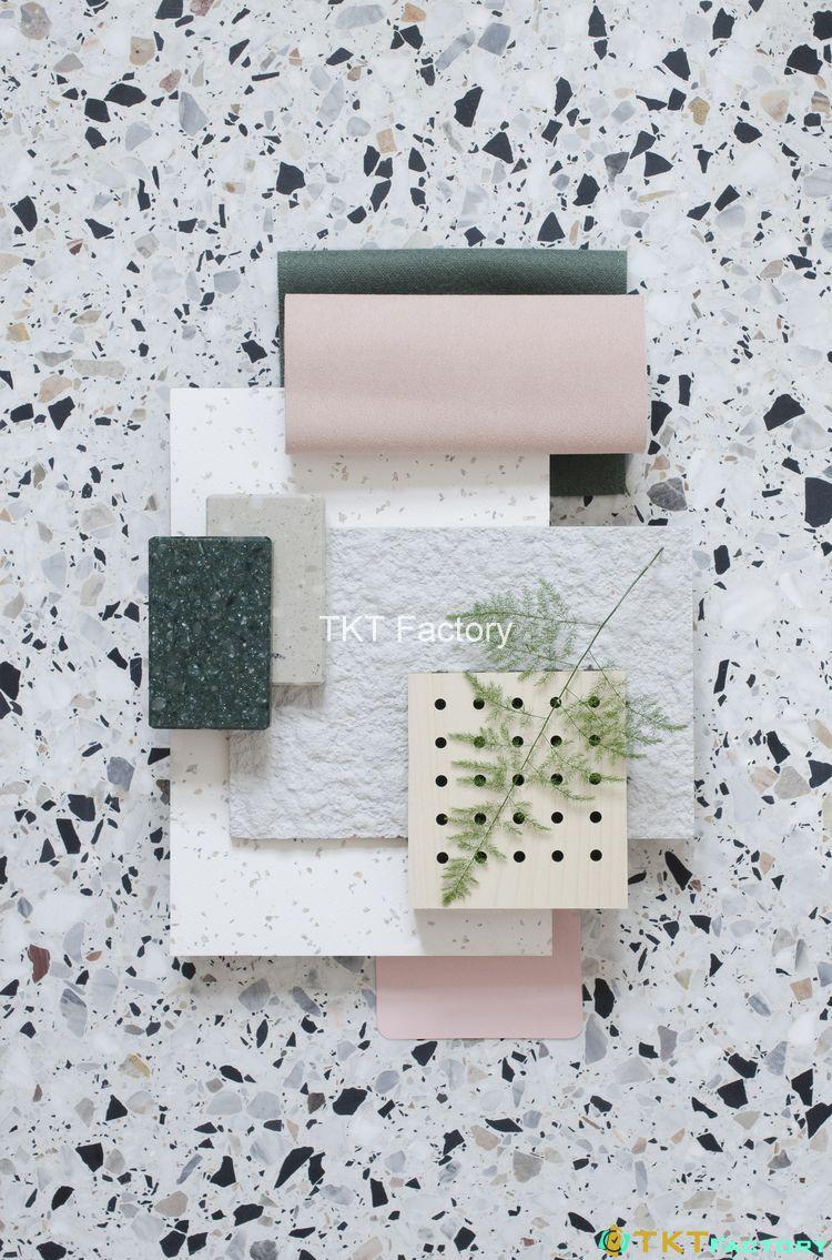 đá terrazzo ốp tường kiến trúc đương đại 2019