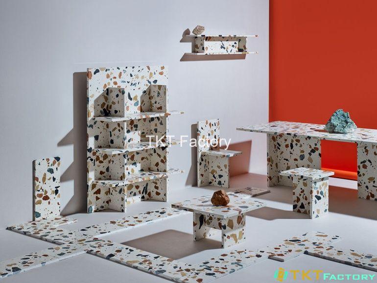 đá terrazzo nghệ thuật ứng dụng trong thiết kế nội thất