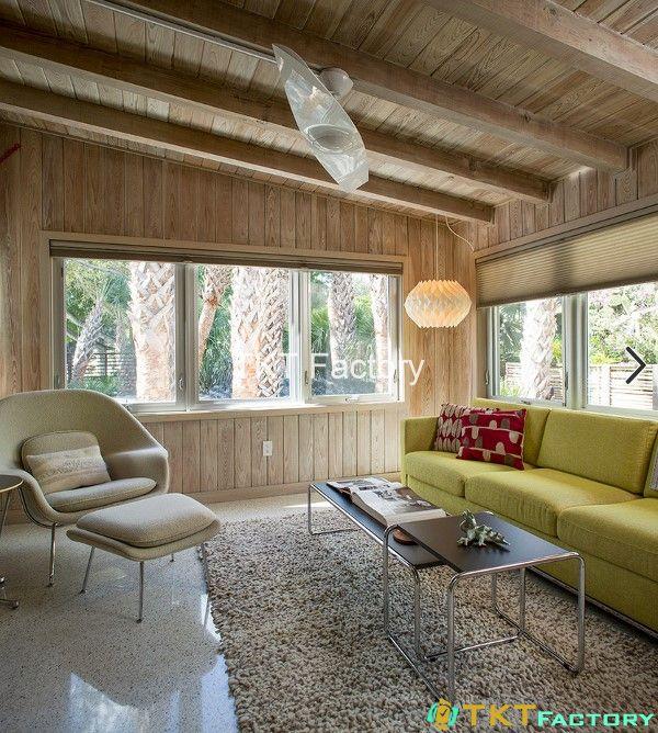 Sàn Terrazzo kết hợp thảm và đồ gỗ