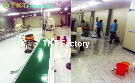Chà rửa sàn Vinyl nhà xưởng KH SEONG JI Hàn Quốc