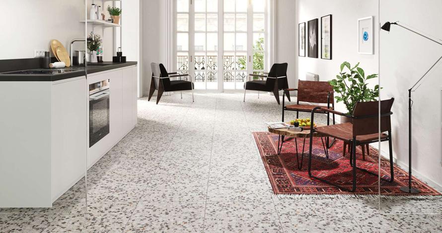 Bộ sưu tập Đá terrazzo dạng tấm ốp lát sàn