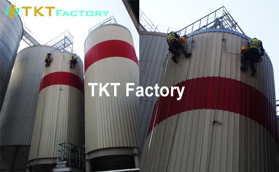 vệ sinh bồn chứa nhà máy sản xuất bia Bình Dương