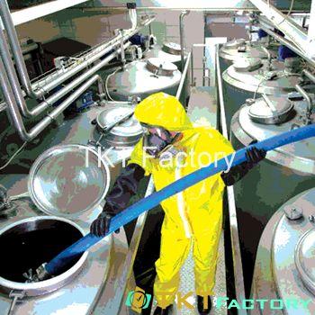 vệ sinh tăng chứa nhà máy thực phẩm