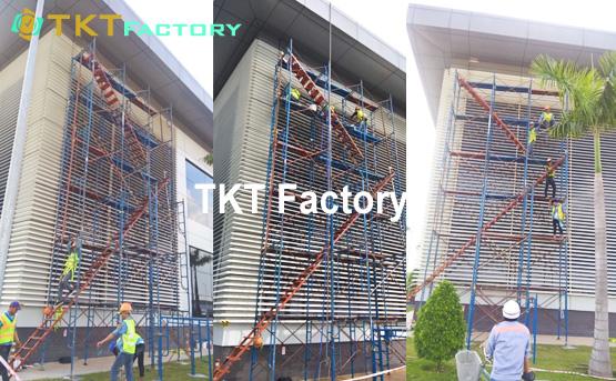 vệ sinh tường nhà xưởng nhà máy sản xuất mỹ phẩm tkt factory