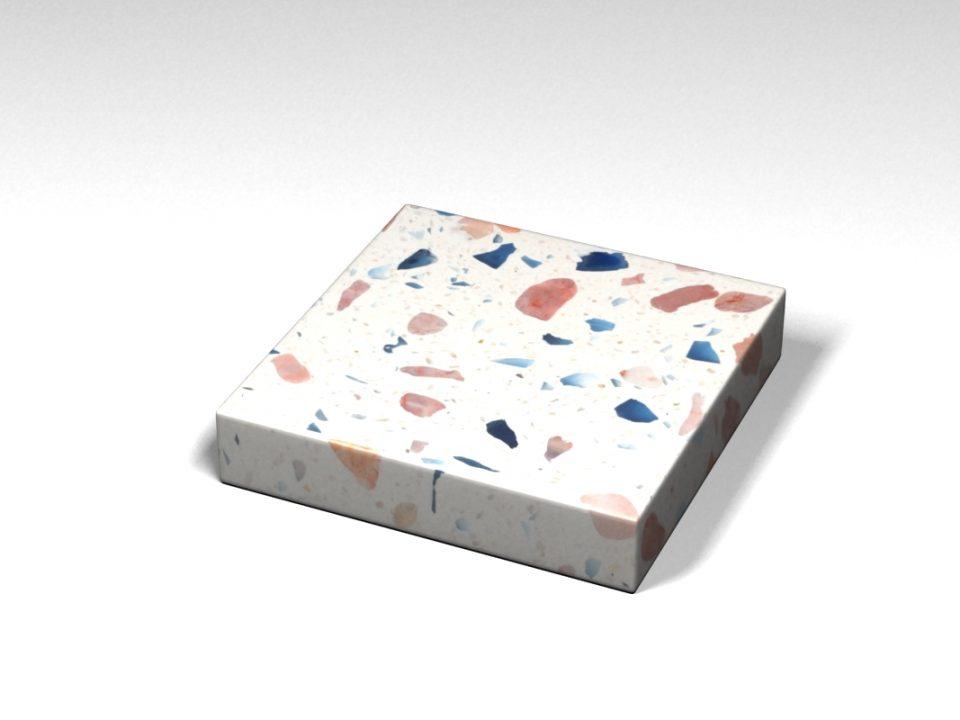 Mẫu đá Terrazzo trong Bộ Sưu Tập Terrazzo từ Kính Mẫu BST-Glass-Collection-TKTF-42