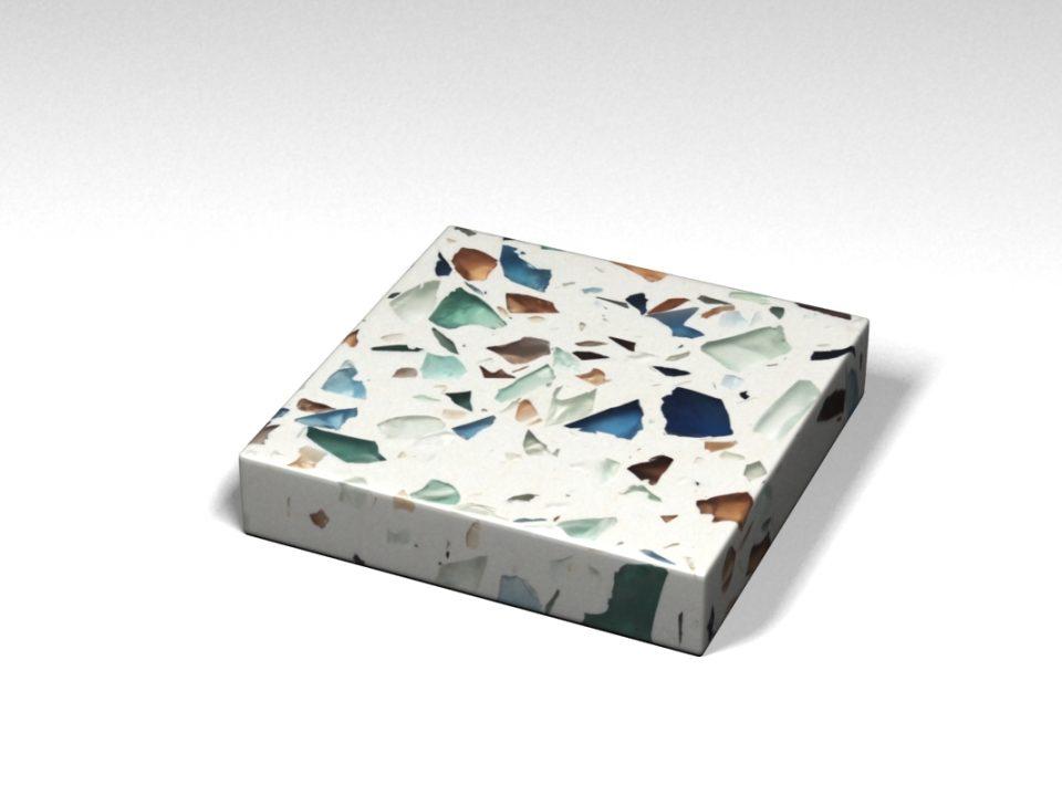 Mẫu đá Terrazzo trong Bộ Sưu Tập Terrazzo từ Kính Mẫu BST-Glass-Collection-TKTF-47