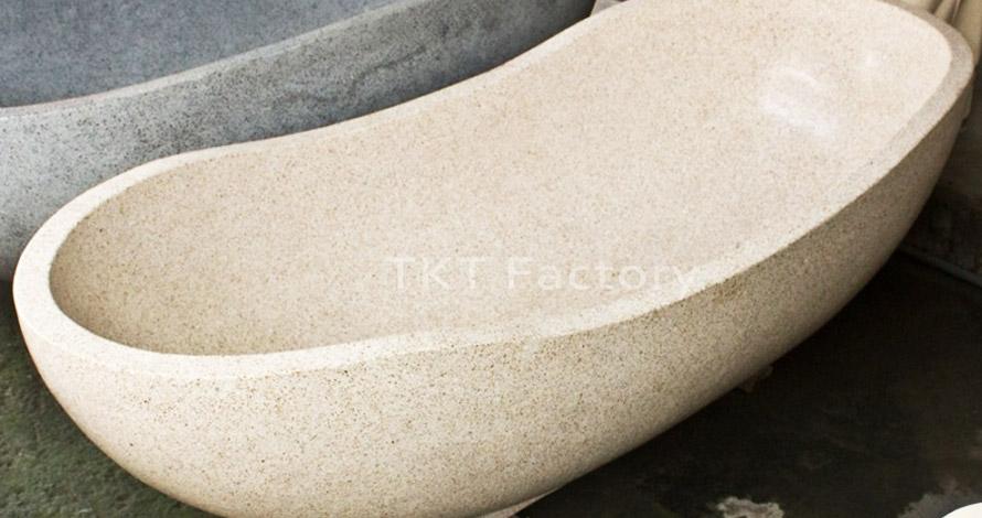 bồn tắm đá Terrazzo mẫu cổ điển