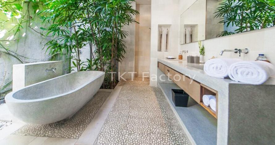 bồn tắm bằng đá Terrazzo cổ điển