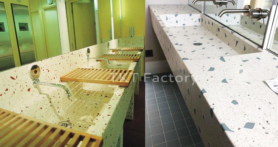 Bồn rửa tay Terrazzo Lavabo Basin Sink Đổ sẵn