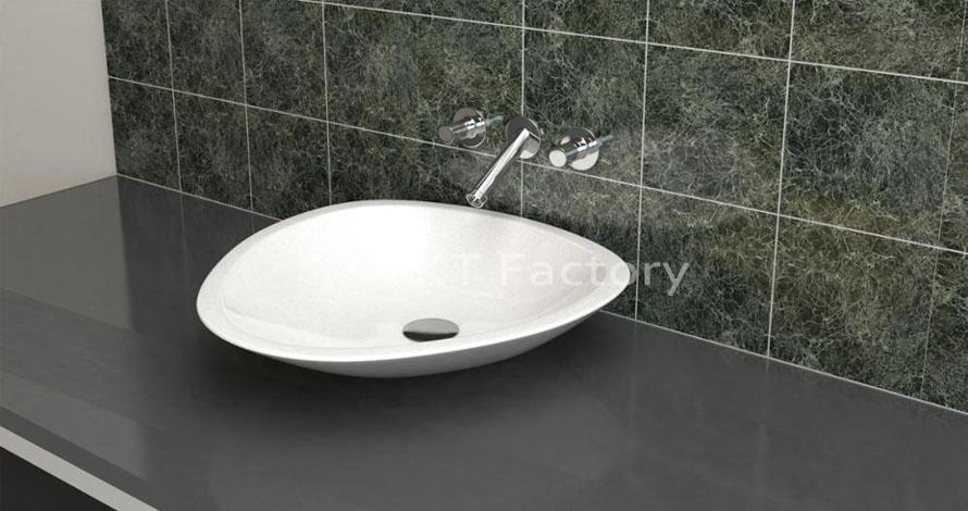 Bồn rửa tay Terrazzo lavabo Basin Sink hình tam giác