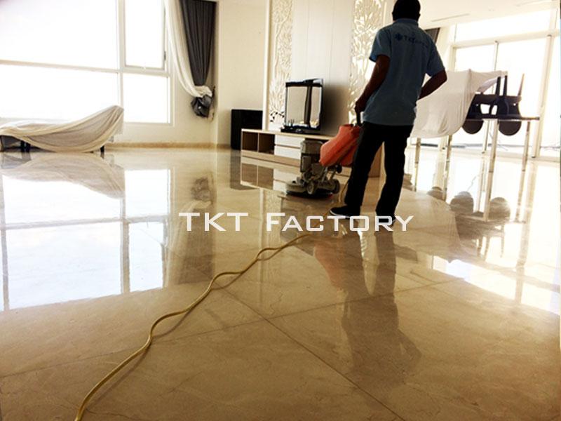 dịch vụ đánh bóng sàn đá Marble TKT Factory
