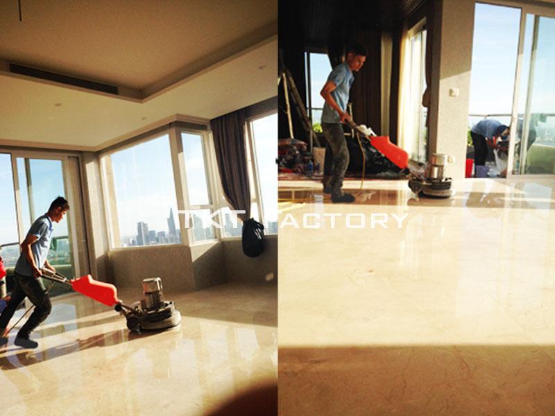 dịch vụ đánh bóng sàn đá cẩm thạch (marble) TKT Factory