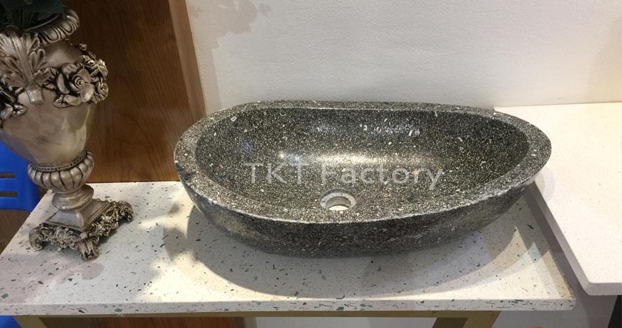 Mẫu bồn rửa tay, rửa mặt hay Lavabo (basin, sink) Terrazzo Mẫu LBTKT-05