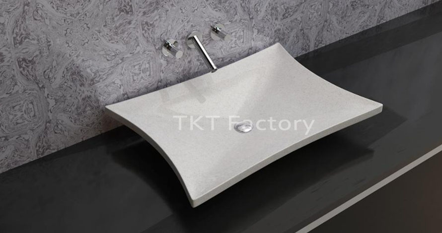 Mẫu bồn rửa tay, rửa mặt hay Lavabo (basin, sink) Terrazzo Mẫu LBTKT-07