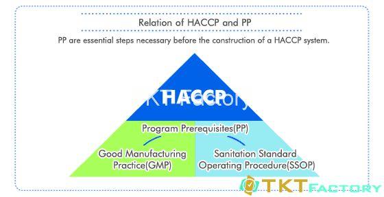 Mối liên hệ giữa SOP, SsOP, GMP, HACCP