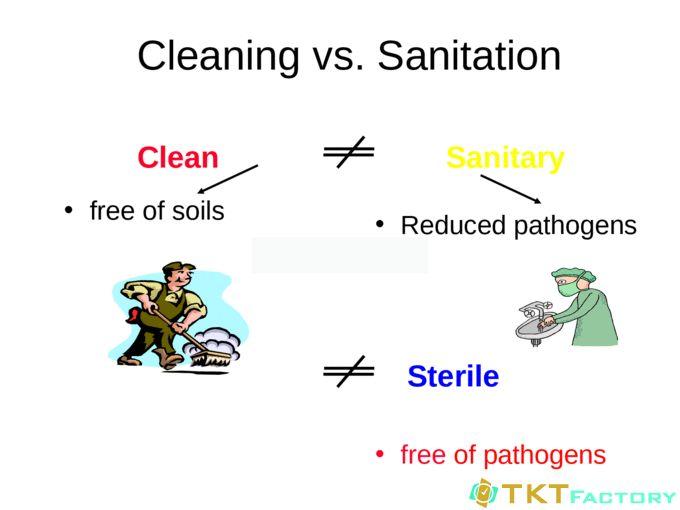 phân biệt cơ bản về làm sạch, vệ sinh đạt chuẩn và khử trùng