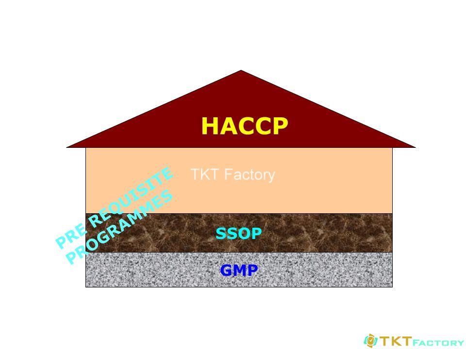 SSOP và GMP là 2 trụ cột của chương trình kiểm soát an toàn thực phẩm HACCP