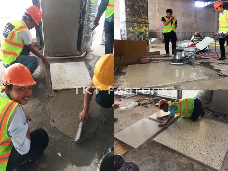 đội thi công sàn bê tông tấm sẵn TKT Factory