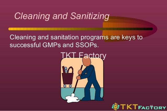 vai trò của làm sạch, vệ sinh đạt chuẩn trong GMP
