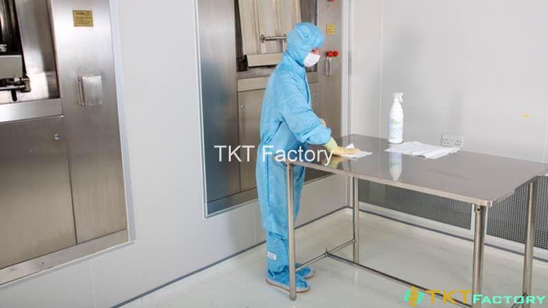 làm sạch cơ sở sản xuất - bề mặt tiếp xúc