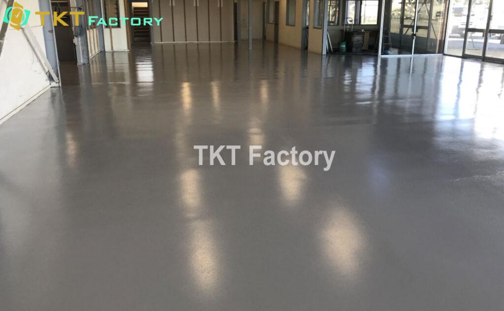 Dịch vụ mài sàn bê tông sơn Epoxy Showroom nội thất Quận 8 TPHCM